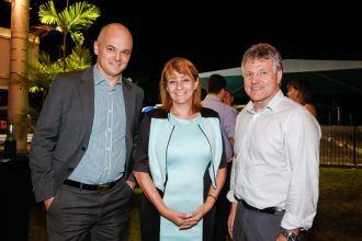Telstra Rep, Mayor Cr Jenny Hill & John Chandler