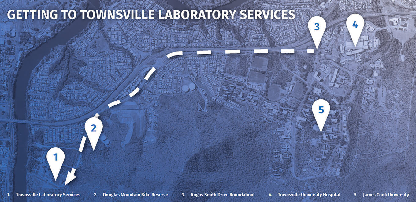 Townsville Laboratory Services Map
