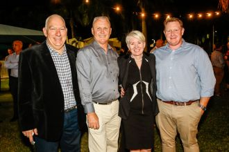 Scott Morrison, Bill Whitburn, Cr Colleen Doyle, Ben Verning