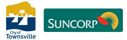 Townsville City Council and Suncorp Logo