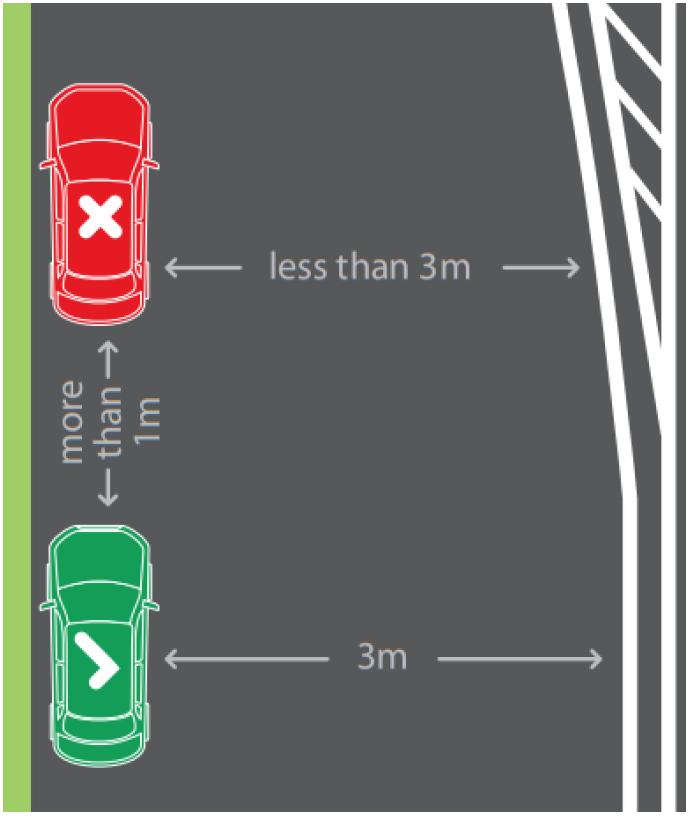 Diagram - parking in residential street