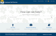 ServiceNow homepage