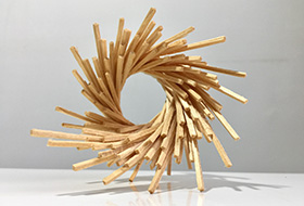 Artwork simulation of The Spiral of Life by Melissa Carey