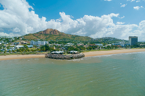 Aerial of The Strand Headland