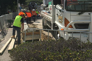 CBD Utilities - New kerb, channel and footpath works on Walker Street