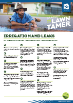 Download the Irrigation and Leaks Fact Sheet