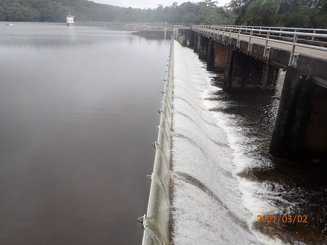 Paluma Dam - Dam spilling (2021)
