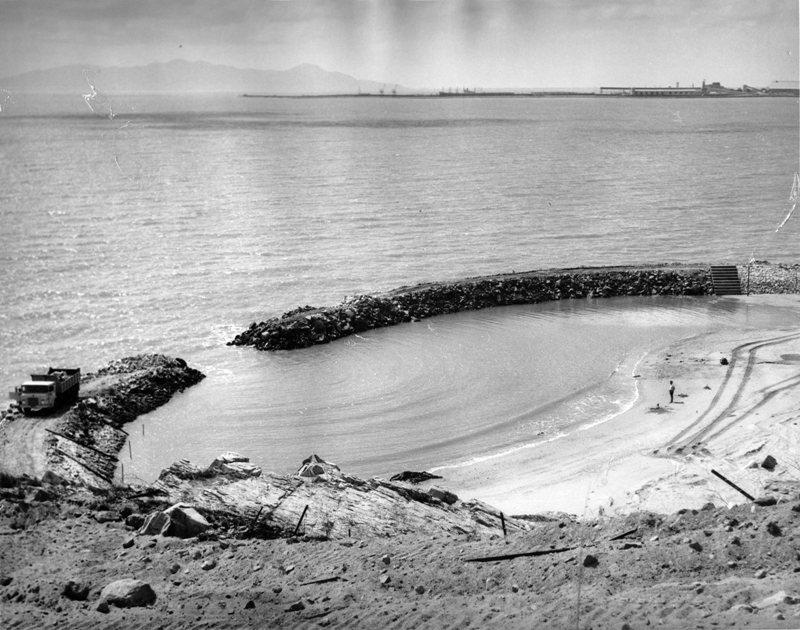 coral sea memorial rock pool construction 1968