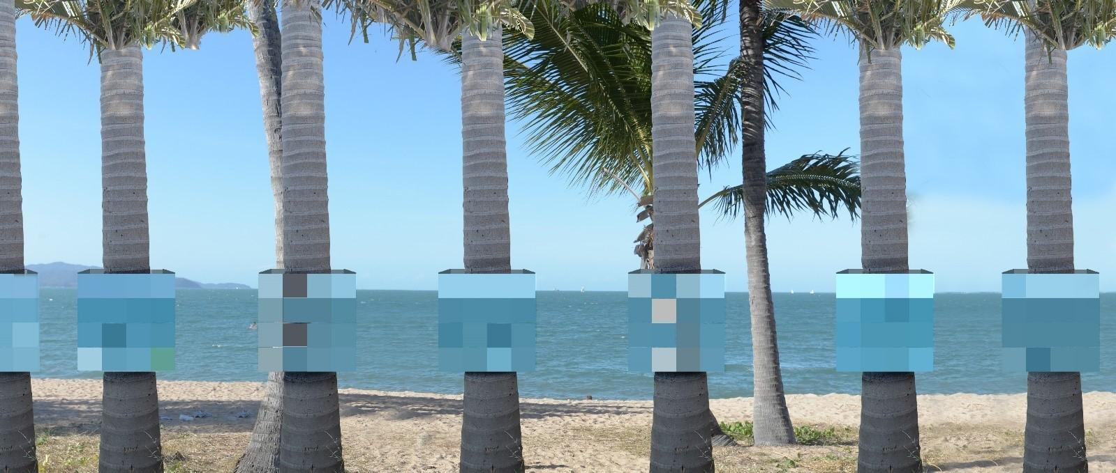 I wish you were here - Carla Gottgens- Digitally printed self-adhesive vinyl, acrylic sheet, steel