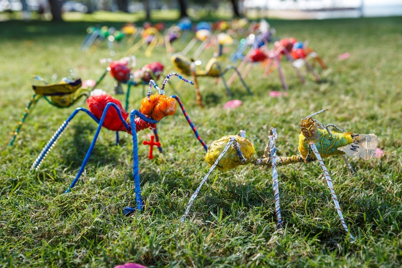 Pollut-Ants - Marcia Bird - Plastic waste, found objects, wire